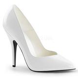 Branco Verniz 13 cm SEDUCE-420V scarpin de bico fino salto alto