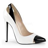 Branco Verniz 13 cm SEXY-22 classico calçados scarpini