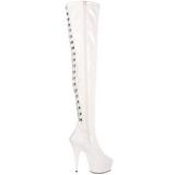Branco Verniz 15,5 cm DELIGHT-3063 bota acima do joelho