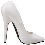 Branco Verniz 15 cm DOMINA-420 Sapatos Scarpin Stiletto Salto Agulha