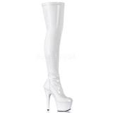 Branco Verniz 18 cm ADORE-3000 Longas Bota Acima Do Joelho
