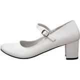 Branco Verniz 5 cm SCHOOLGIRL-50 classico calçados scarpini