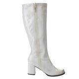 Branco Verniz 7,5 cm Funtasma GOGO-303 Botas Femininas