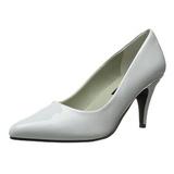 Branco Verniz 7,5 cm PUMP-420 classico calçados scarpini