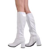 Branco Verniz 8,5 cm GOGO-300 Botas Mulher para Homens