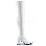 Branco Verniz 8 cm GOGO-3000 botas over knee mulher