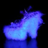 Branco marabu penas 18 cm ADORE-708F sapatos de pole dance