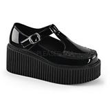 Brilhante CREEPER-214 sapatos creepers de mulher rockabilly