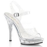 Brilho 13 cm Fabulicious LIP-108MMG sandálias de salto alto mulher
