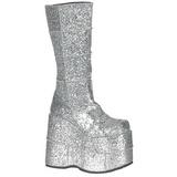 Brilho 18 cm STACK-301G Goticas Botas Homem Plataforma