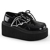 Brilho CREEPER-205 sapatos creepers de mulher rockabilly