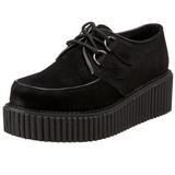 Camurca 5 cm CREEPER-101 sapatos creepers mulher solas grossas
