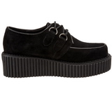 Camurca 5 cm CREEPER-101 sapatos creepers rockabilly plataforma