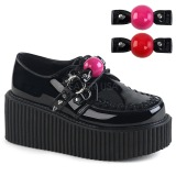 Camurca 5 cm CREEPER-222 sapatos creepers rockabilly plataforma
