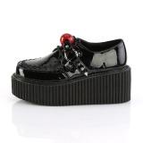 Camurca 5 cm CREEPER-222 sapatos creepers rockabilly plataforma