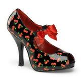 Cereja Preto 12 cm CUTIEPIE-07 Sapatos Scarpin Femininos