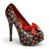 Cereja Preto 14,5 cm TEEZE-12-6 calçados femininos com salto alto