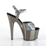 Cinza 18 cm ADORE-709HGCH Holograma plataforma salto alto mulher