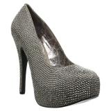 Cinza Strass 14,5 cm Burlesque TEEZE-06RW scarpin pés largos para homem
