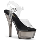 Cinza brilho 15 cm KISS-208T sandálias de saltos pole dance