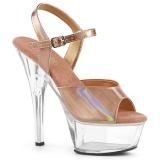 Cobre 15 cm KISS-209BHG Plataforma Sapatos Salto Alto