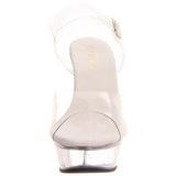 Completo Transparente 14 cm ALLURE-608 Plateau Sapatos Salto Alto