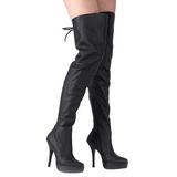 Couro 13,5 cm INDULGE-3011 bota acima do joelho