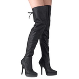 Couro 13,5 cm INDULGE-3011 bota plataforma acima do joelho