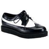 Couro 2,5 cm CREEPER-608 Creepers Sapatos Homem Plataforma