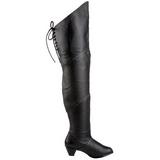Couro 6,5 cm MAIDEN-8828 botas altas cano longo