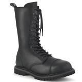 Couro Vegan RIOT-14 botas dedo do pé de aço - botas de combate demonia