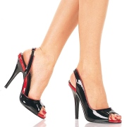 Couro envernizado sapatos slingbacks 13 cm SEDUCE-117 slingback salto alto pleaser