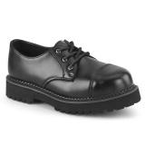 Couro genuíno RIOT-03 zapatos punk demonia - zapatos dedo do pé de aço
