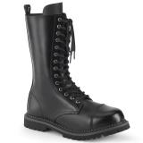 Couro genuíno RIOT-14 botas dedo do pé de aço - botas de combate demonia