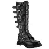 Couro genuíno RIOT-21MP botas dedo do pé de aço - botas de combate demonia