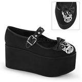Cranio lona 8 cm CLICK-02-3 sapatos de mulher góticos