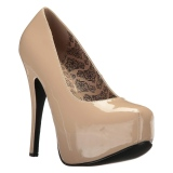 Creme Envernizado 14,5 cm Burlesque TEEZE-06W scarpin pés largos para homem