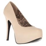 Creme Imitação Couro 14,5 cm Burlesque TEEZE-06W scarpin pés largos para homem