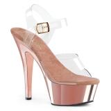 Cromo 15 cm Pleaser KISS-208 Plataforma Sapatos Salto Alto