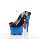 Dupla Cor 18 cm ADORE-708HQSQ Plataforma Sapatos Salto Alto