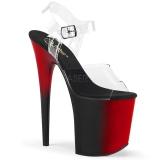 Dupla Cor 20 cm FLAMINGO-808BR Plataforma Sapatos Salto Alto