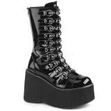 Envernizado 11,5 cm DEMONIA KERA-50 botas gotico com plataforma