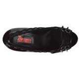 Envernizado 13,5 cm PIXIE-18 sapatos scarpin aberto na frente
