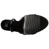 Envernizado 15 cm Devious DOMINA-108 sandálias de salto alto mulher
