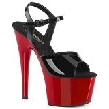 Envernizado 18 cm ADORE-709 Sapatos Salto Alto Plataforma Vermelho