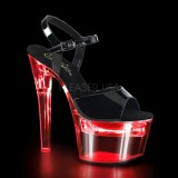 Envernizado 18 cm FLASHDANCE-709 LED lampada sandália para striper