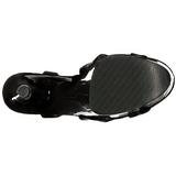 Envernizado 20 cm FLAMINGO-831 Plataforma Sapatos Salto Alto