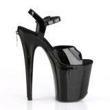 Envernizado 20 cm Pleaser FLAMINGO-809Z sandálias de plataforma