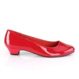 Envernizado 3 cm GWEN-01 scarpin de homem e drag queens em vermelhos