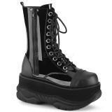 Envernizado 7,5 cm NEPTUNE-200 botinhas demonia - botinhas plataforma unisex